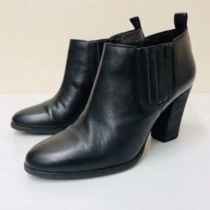Michael Kors black leather ankle boots (6)